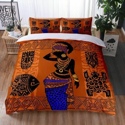 Afrocentric Duvet Cover Set (Design #18)
