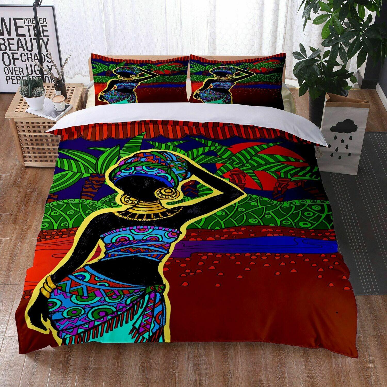 Afrocentric Duvet Cover Set (Design #19)