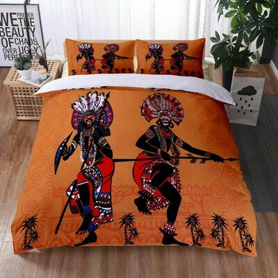Afrocentric Duvet Cover Set (Design #20)