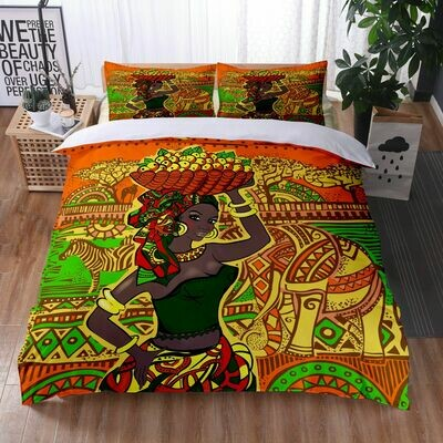 Afrocentric Duvet Cover Set (Design #22)
