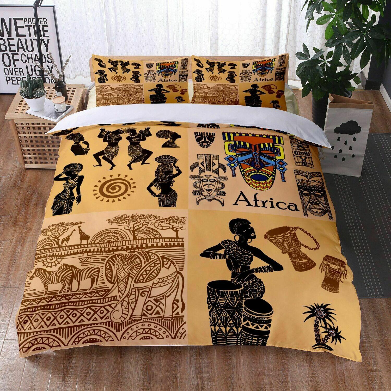 Afrocentric Duvet Cover Set (Design #23)