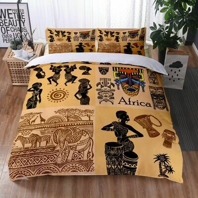 Afrocentric Duvet Cover Set (Design #23)
