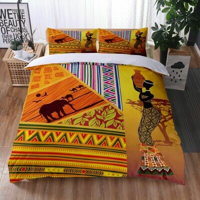 Afrocentric Duvet Cover Set (Design #24)