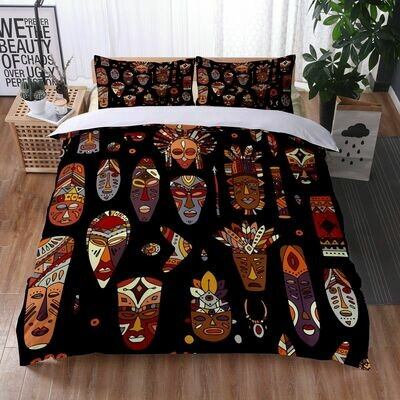 Afrocentric Duvet Cover Set (Design #26)
