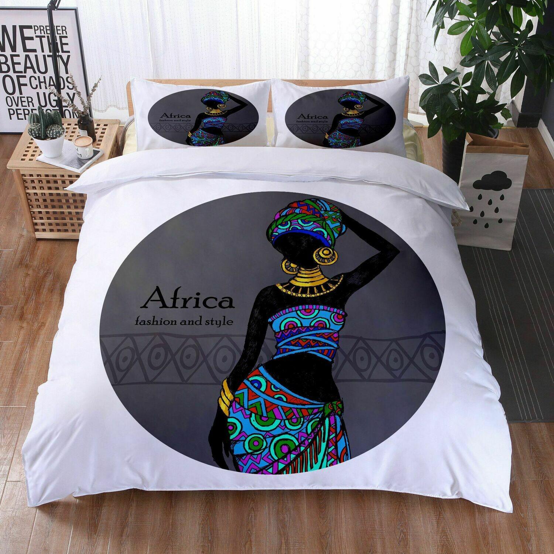 Afrocentric Duvet Cover Set (Design #31)
