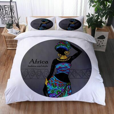 Afrocentric Duvet Cover Set (Design #31)