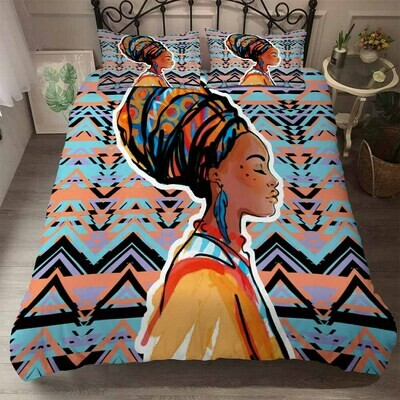 Afrocentric Duvet Cover Set (Design #36)