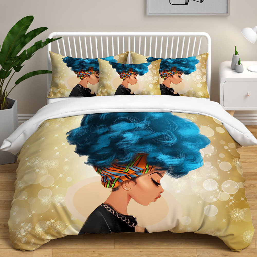 Afrocentric Duvet Cover Set (Design #39)