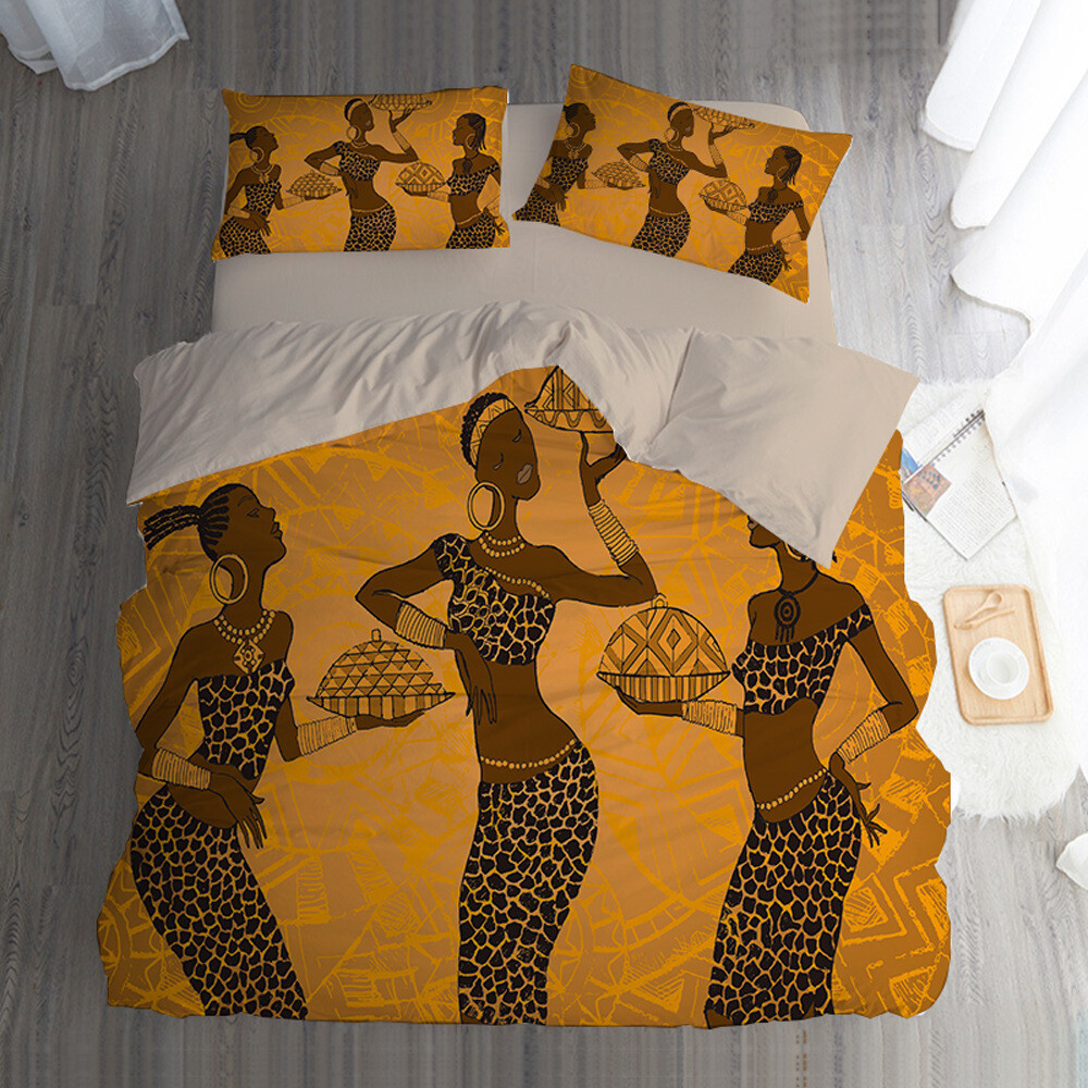 Afrocentric Duvet Cover Set (Design #69)