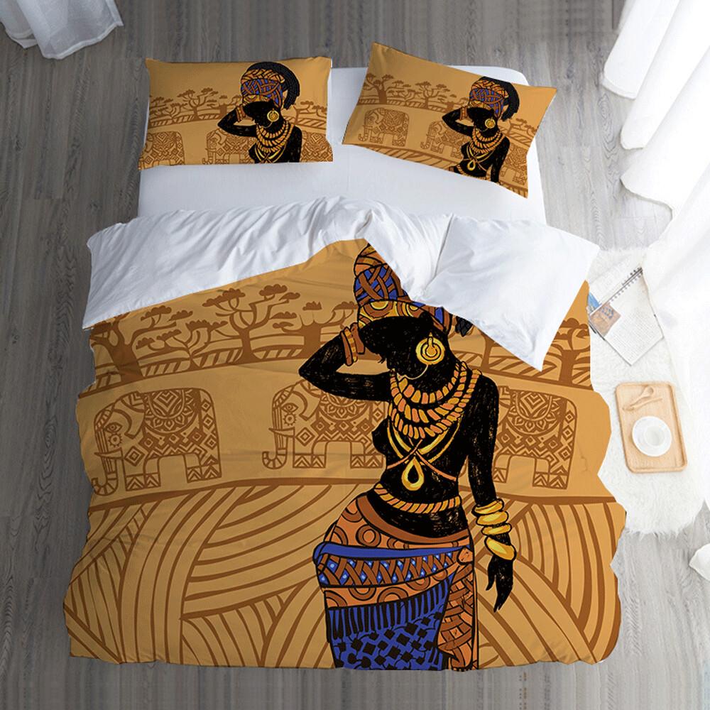 Afrocentric Duvet Cover Set (Design #73)