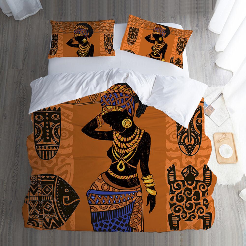 Afrocentric Duvet Cover Set (Design #76)