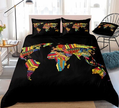 Afrocentric Duvet Cover Set (Design #2)