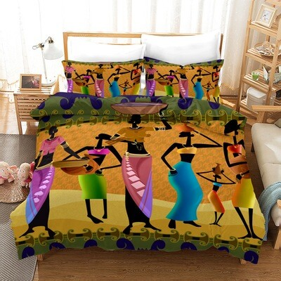 Afrocentric Duvet Cover Set (Design #11)