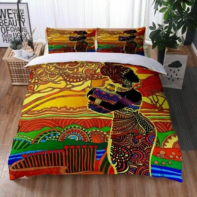 Afrocentric Duvet Cover Set (Design #29)