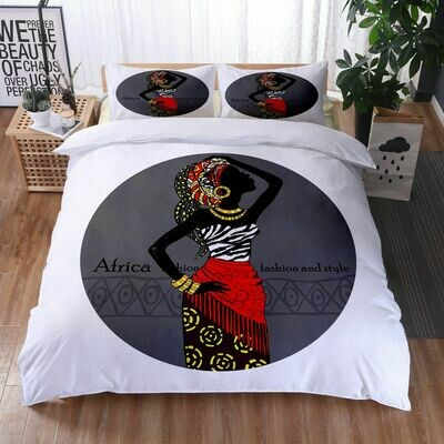 Afrocentric Duvet Cover Set (Design #30)