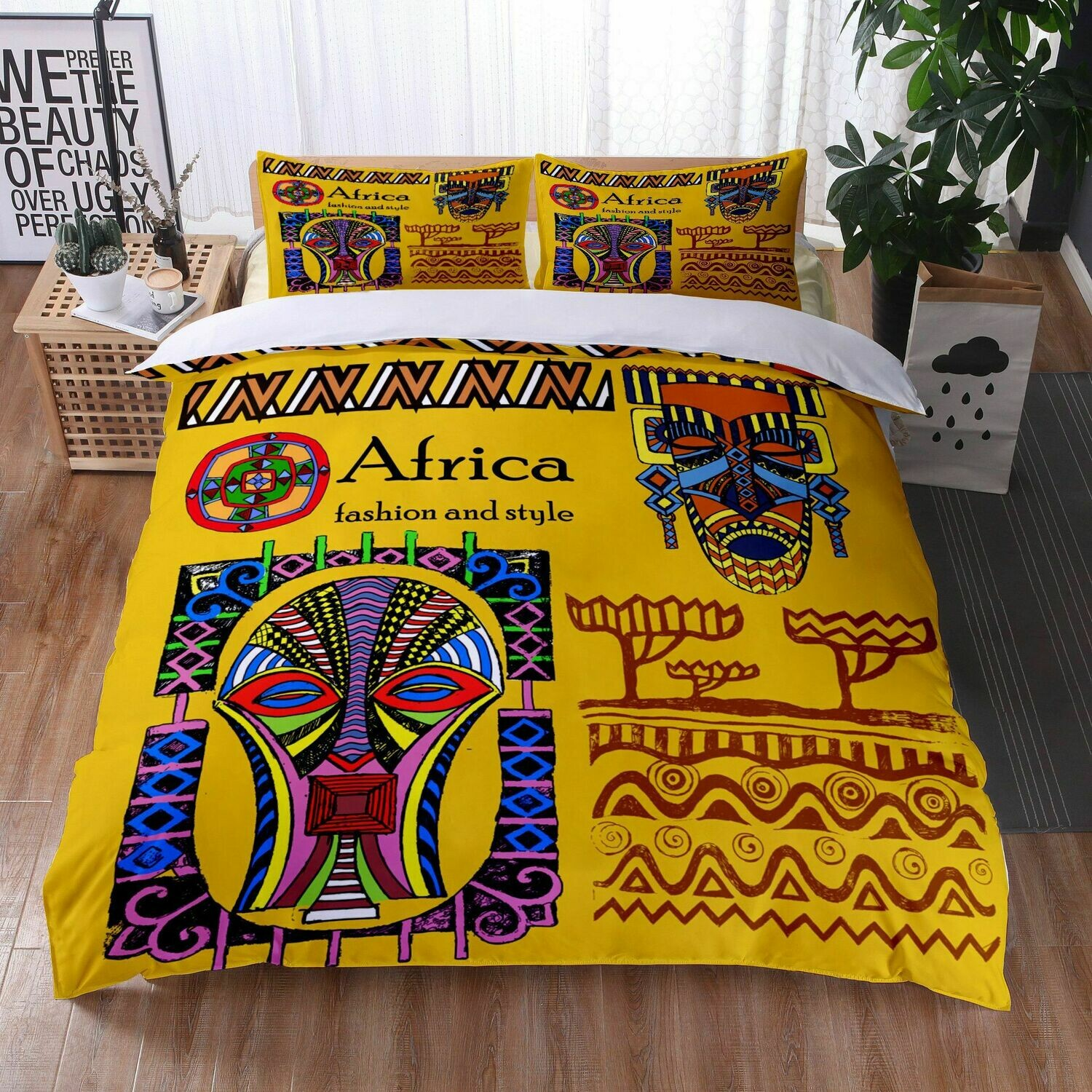Afrocentric Duvet Cover Set (Design #33)