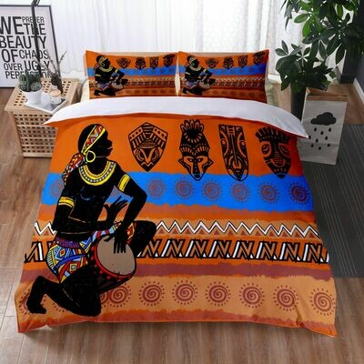 Afrocentric Duvet Cover Set (Design #34)