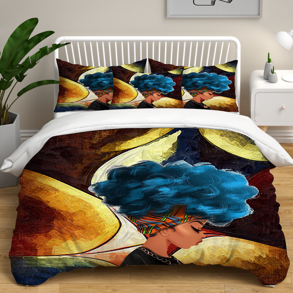 Afrocentric Duvet Cover Set (Design #37)