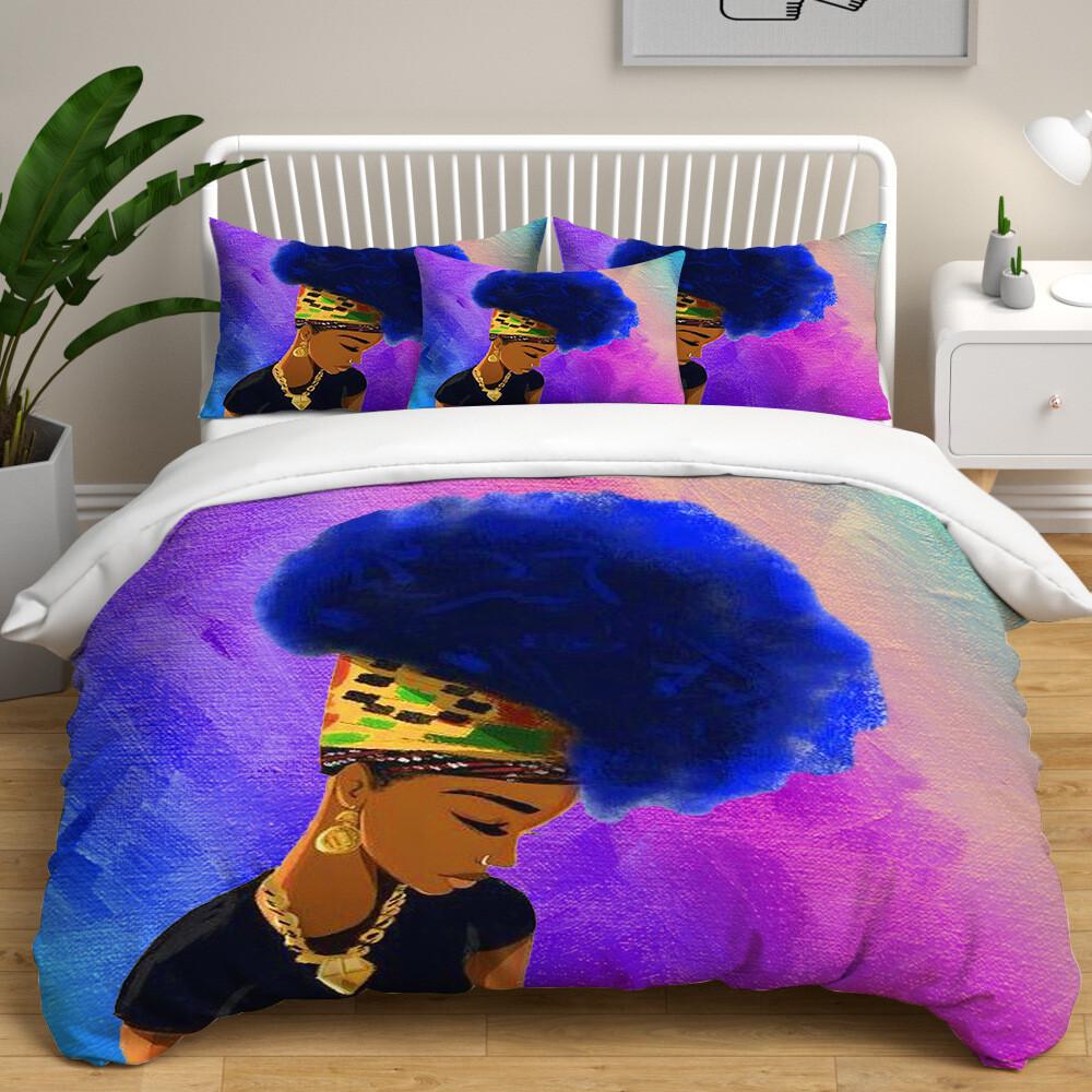 Afrocentric Duvet Cover Set (Design #52)