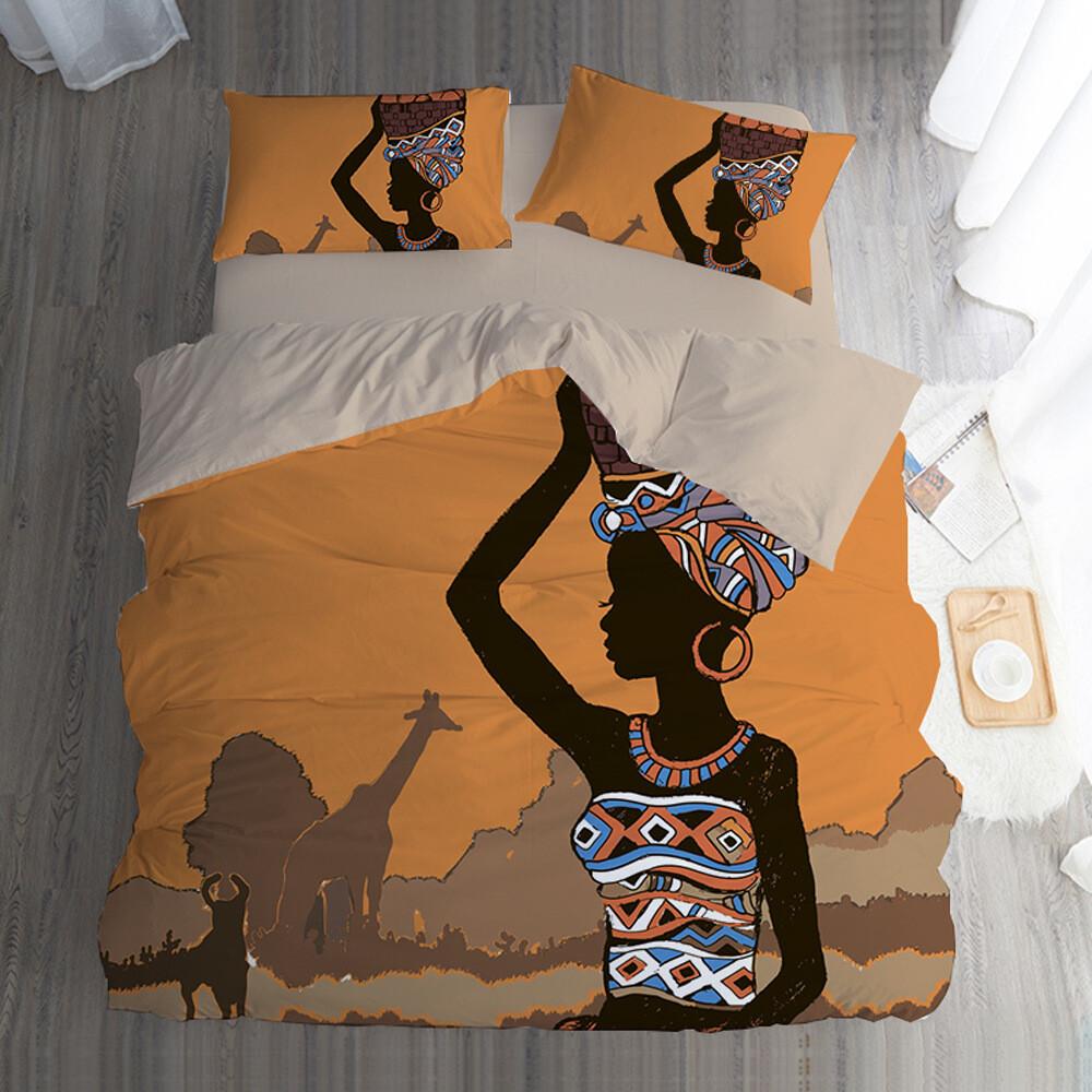 Afrocentric Duvet Cover Set (Design #71)