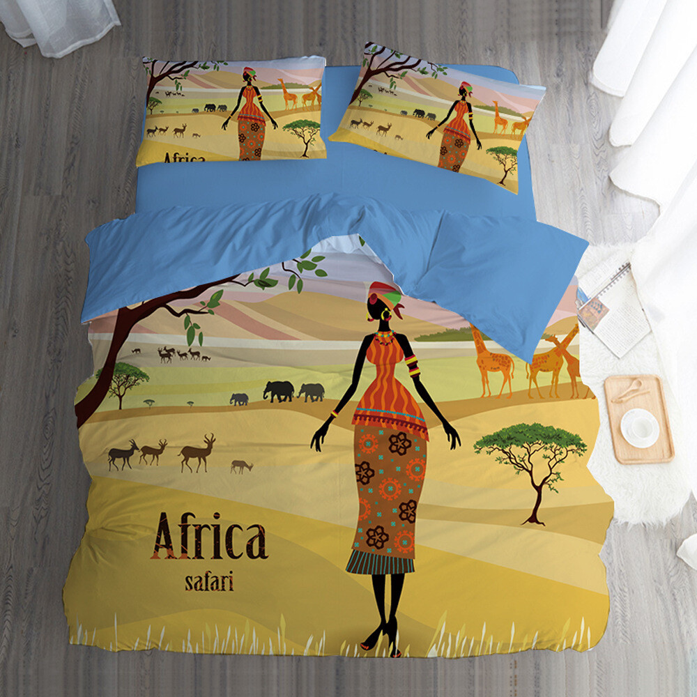 Afrocentric Duvet Cover Set (Design #82)
