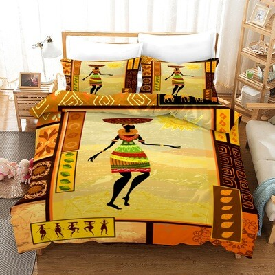 Afrocentric Duvet Cover Set (Design #16)