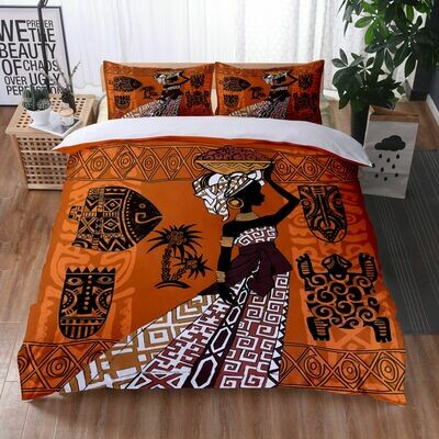 Afrocentric Duvet Cover Set (Design #32)
