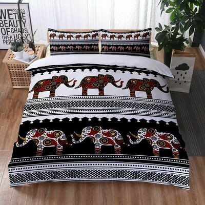 Afrocentric Duvet Cover Set (Design #35)