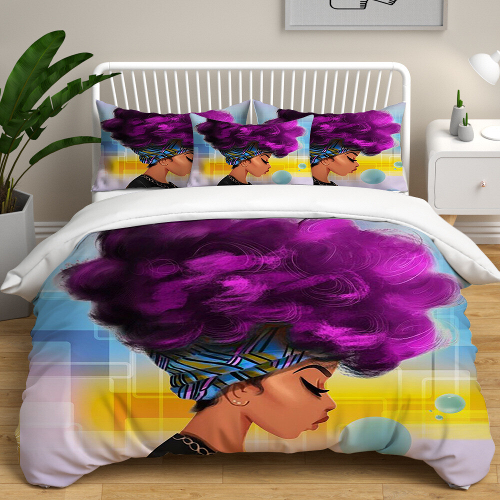 Afrocentric Duvet Cover Set (Design #41)