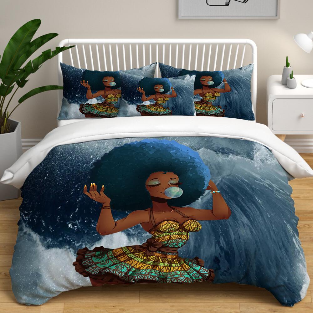 Afrocentric Duvet Cover Set (Design #58)