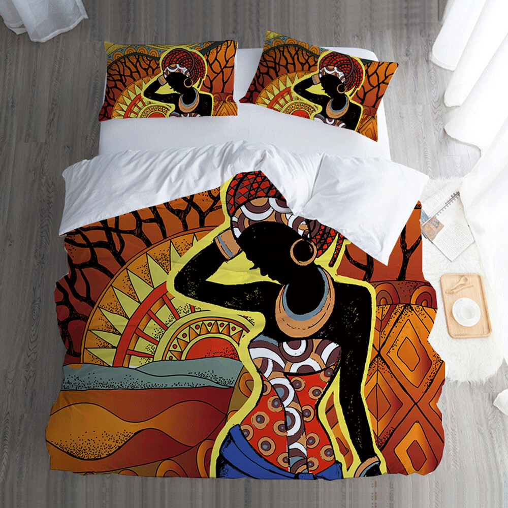 Afrocentric Duvet Cover Set (Design #81)