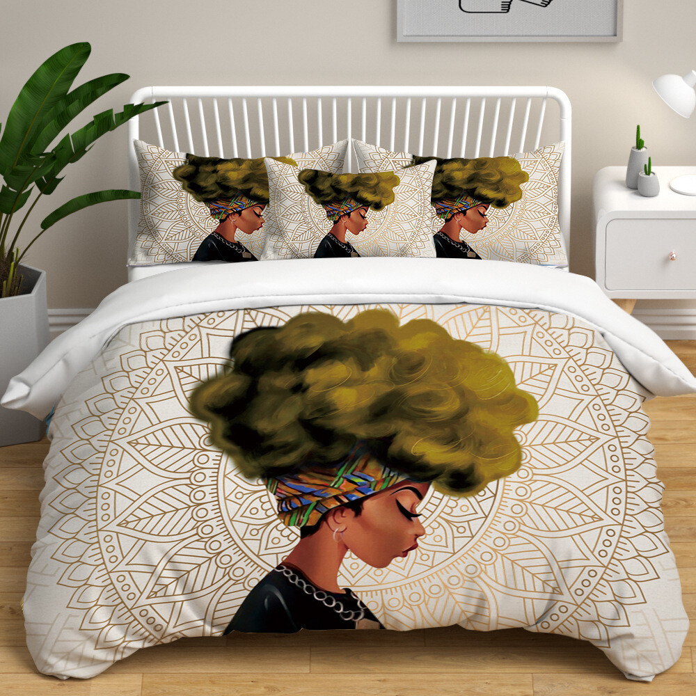 Afrocentric Duvet Cover Set (Design #38)