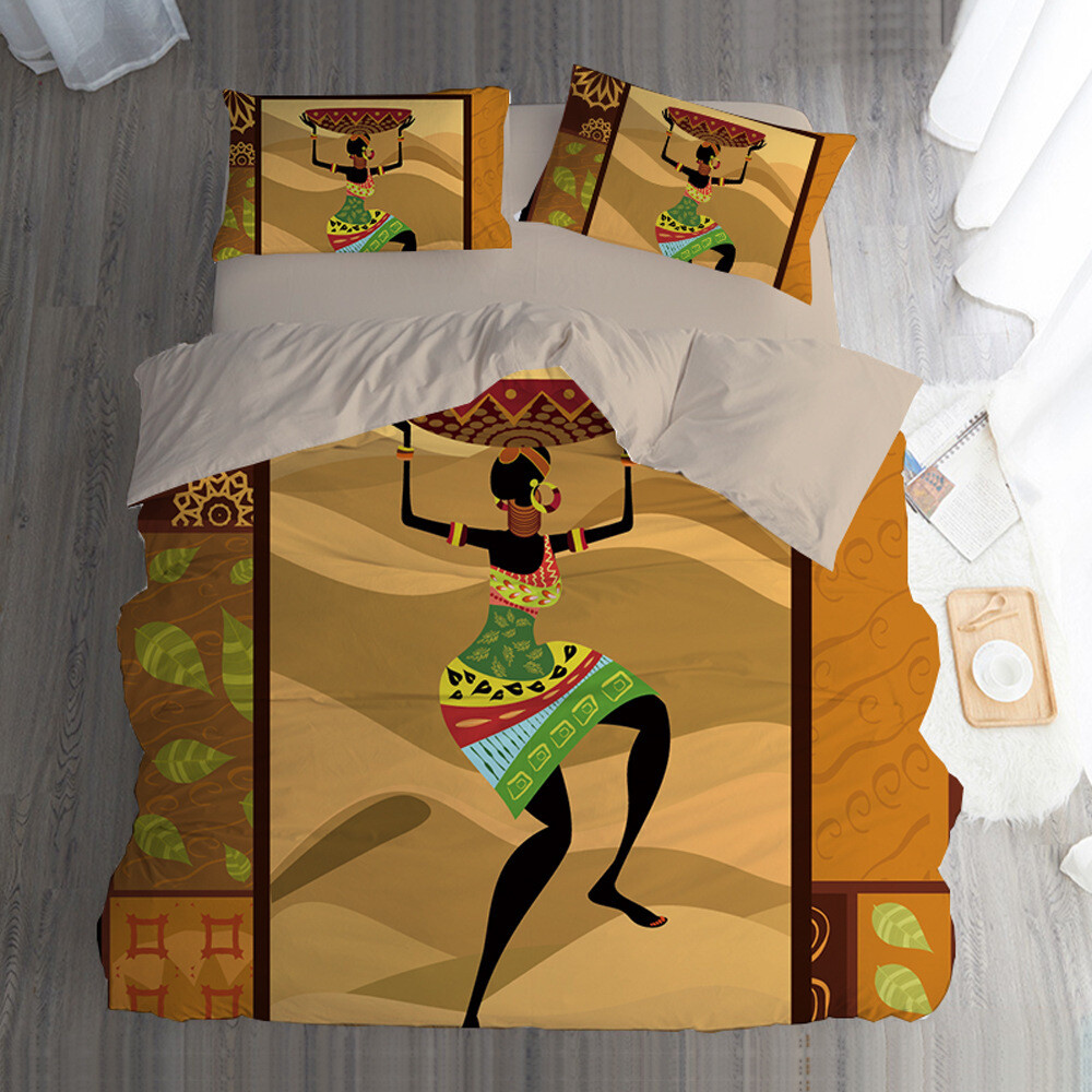 Afrocentric Duvet Cover Set (Design #67)
