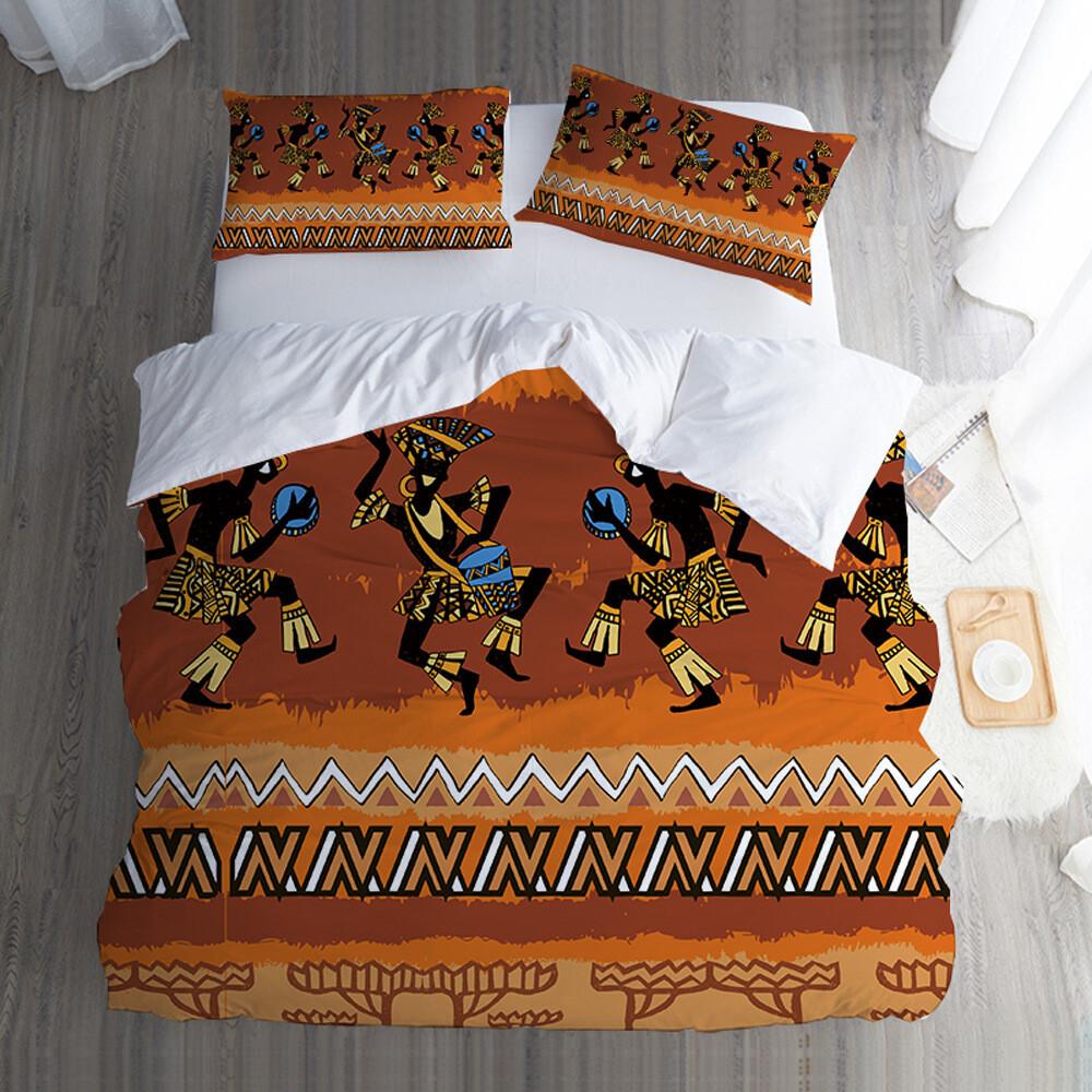 Afrocentric Duvet Cover Set (Design #77)