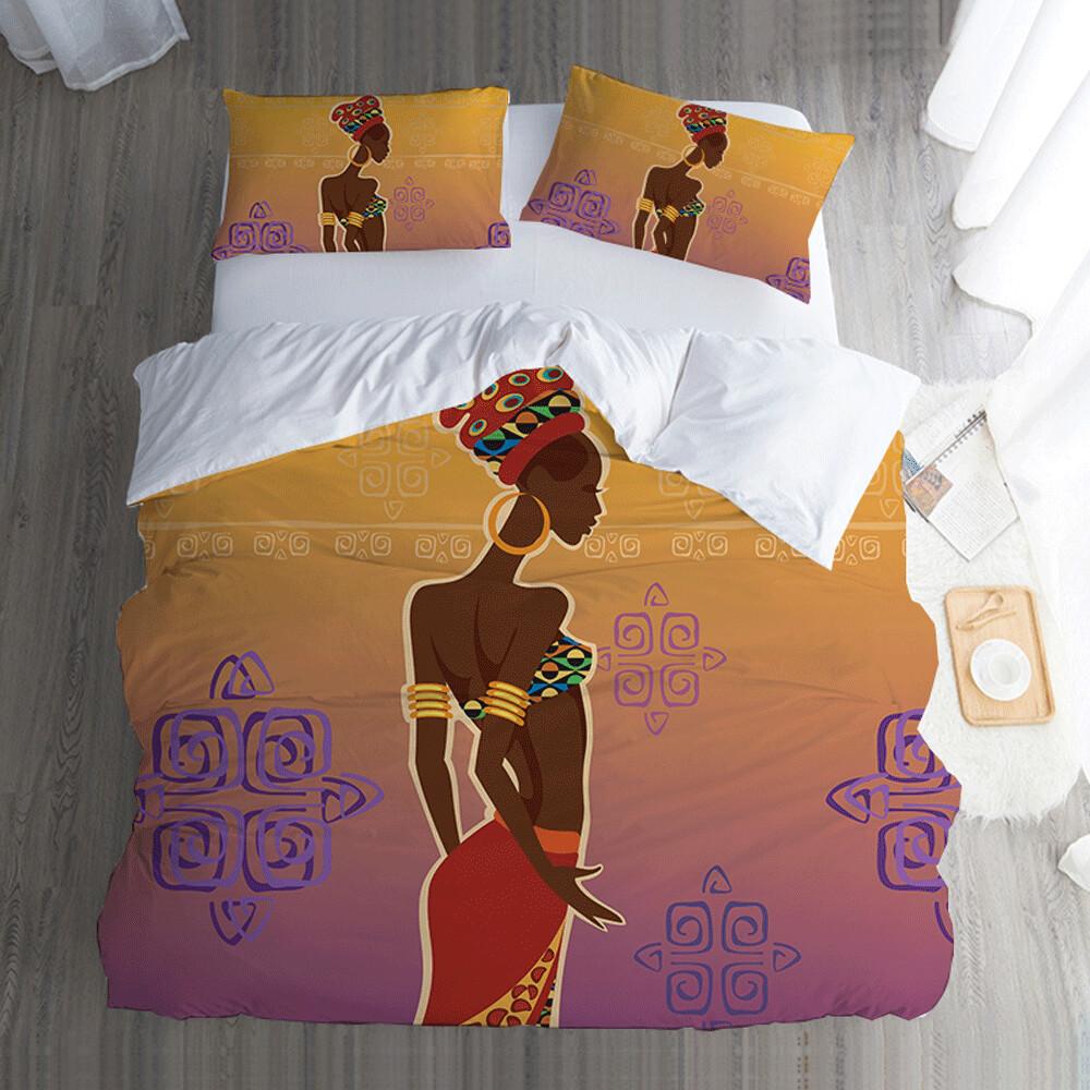 Afrocentric Duvet Cover Set (Design #78)