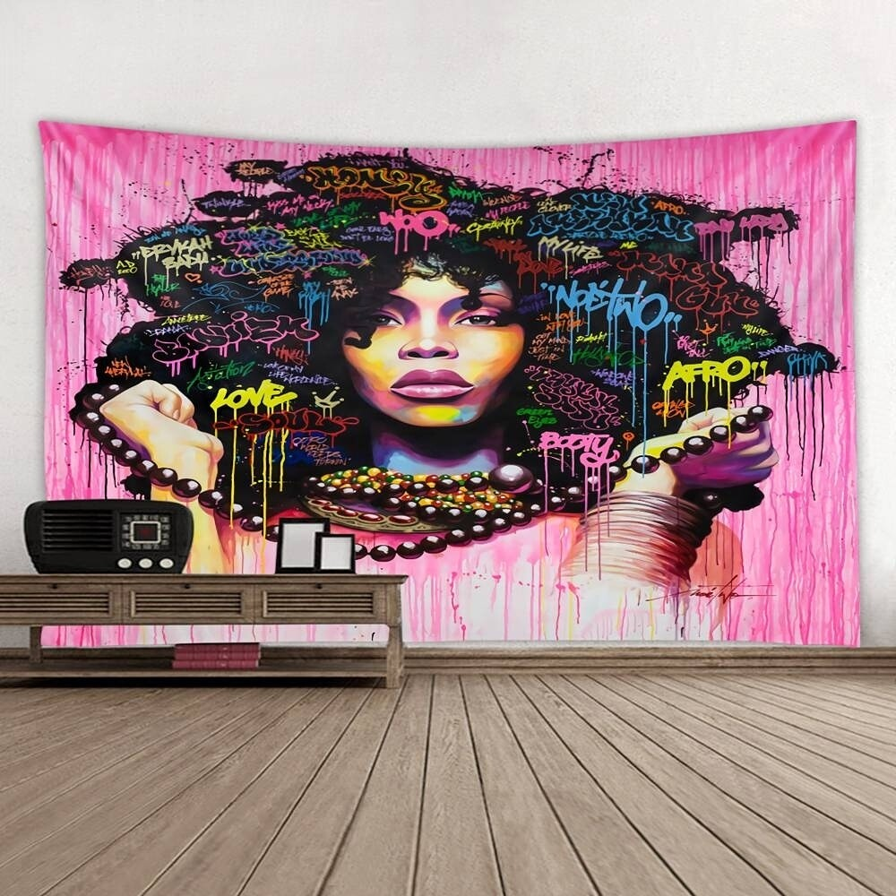 Pink Baduism Wall Tapestry