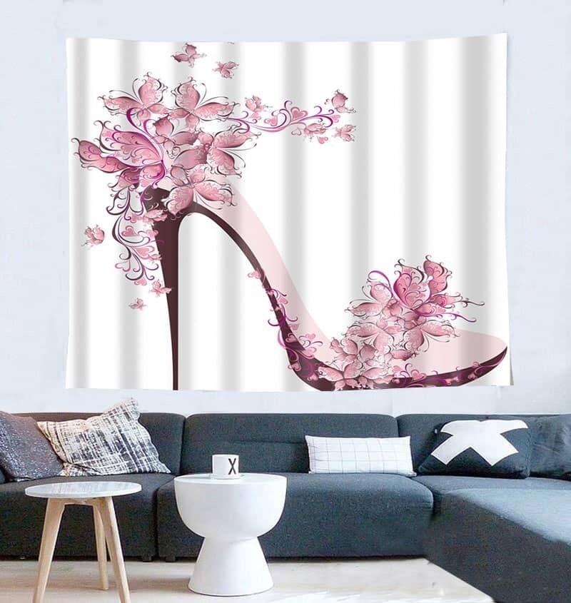 Pink Flowers Heels