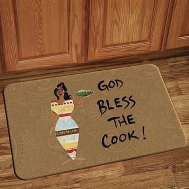 Interior Floor Mat (God Bless The Cook)