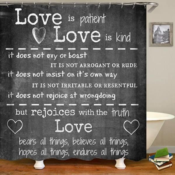 2-Piece Shower Set (Love Is Patient)