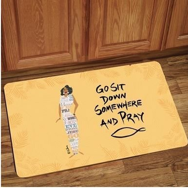 Interior Floor Mat (Go Sit Down Somewhere & Pray)