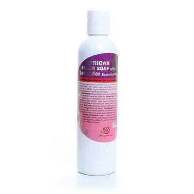 Liquid African Black Soap with Lavender Essential Oil