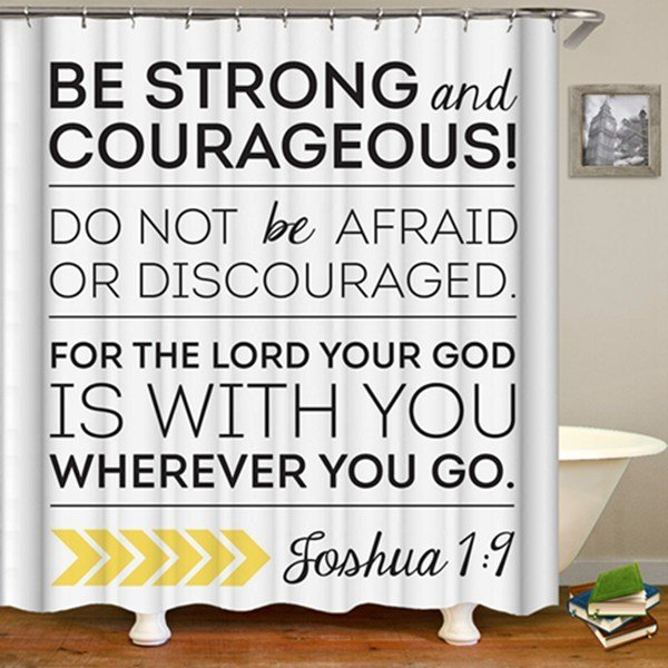 2-Piece Shower Set (Be Strong & Courageous)
