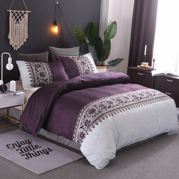 Violet Lily of the Valley Duvet Cover Set