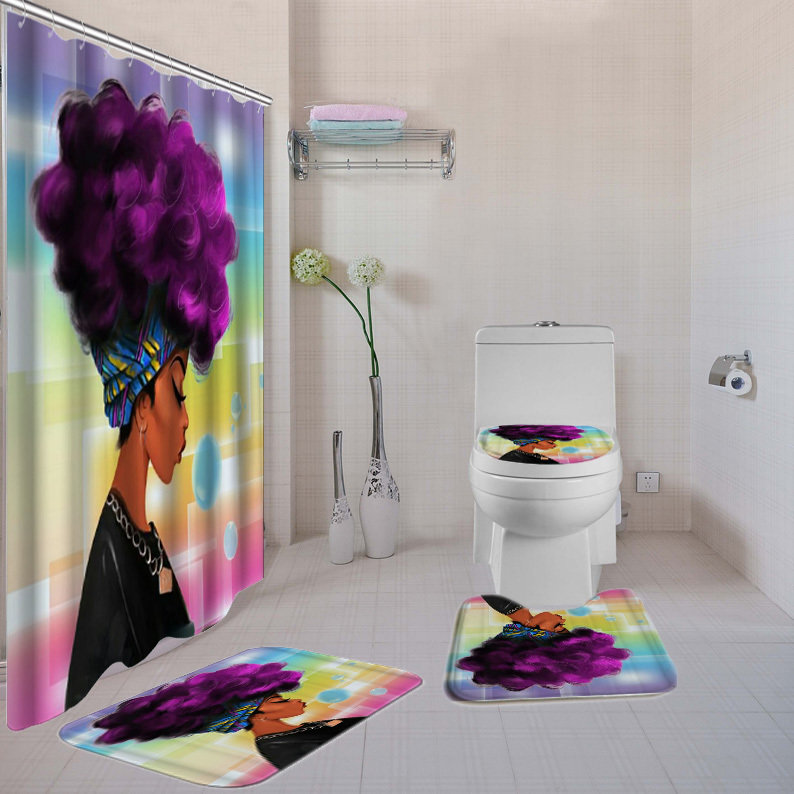 4-piece  Bathroom Set (Purple-Liscious )