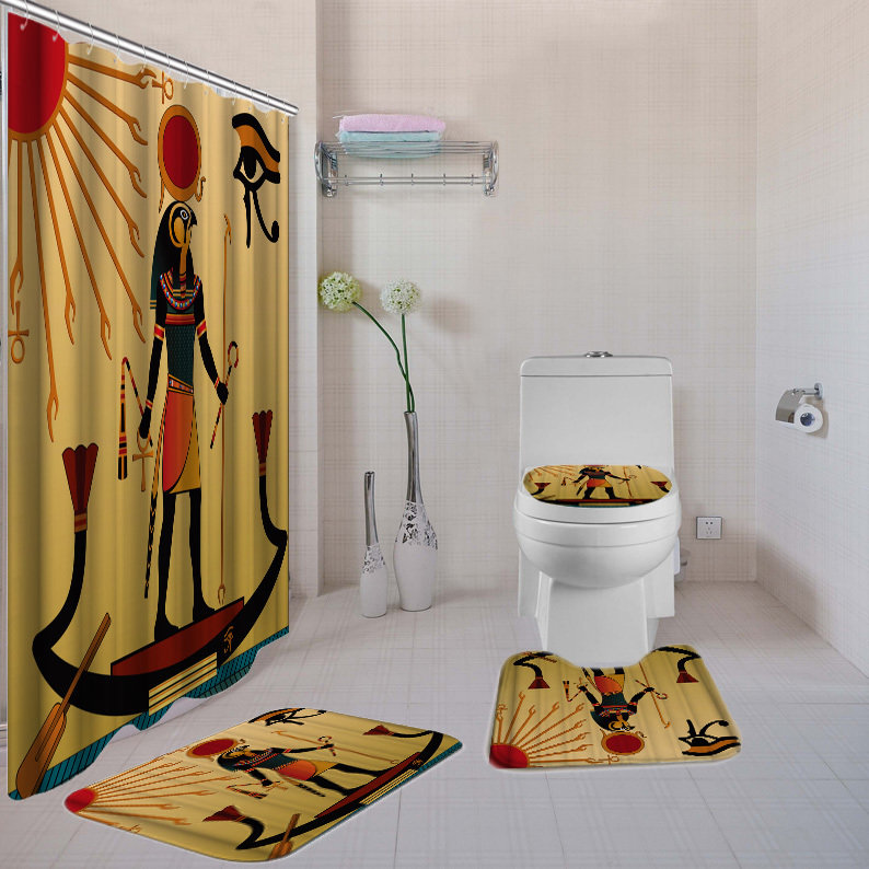 4-piece Bathroom Set (Eye of Horus)