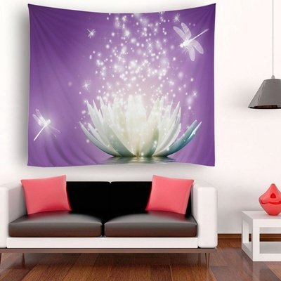 Purple Lotus Tapestry