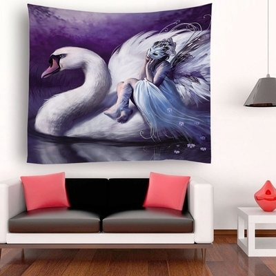 Angel Swan Tapestry