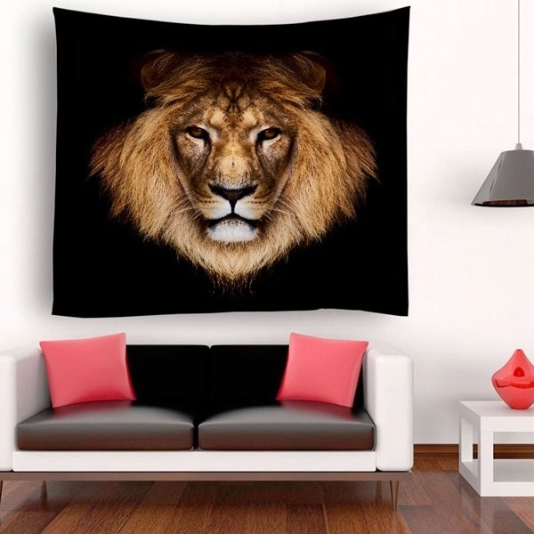 Fierce Lion Tapestry