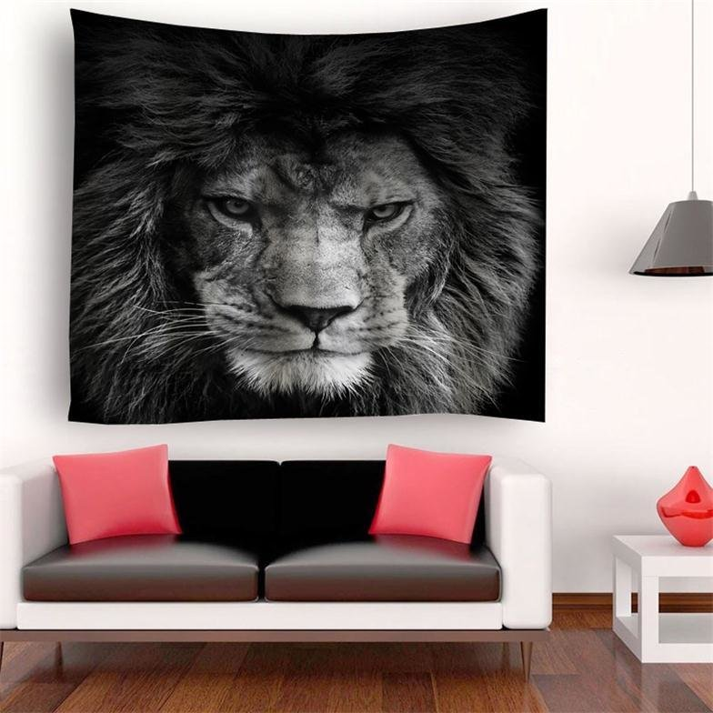 Retro Lion Tapestry