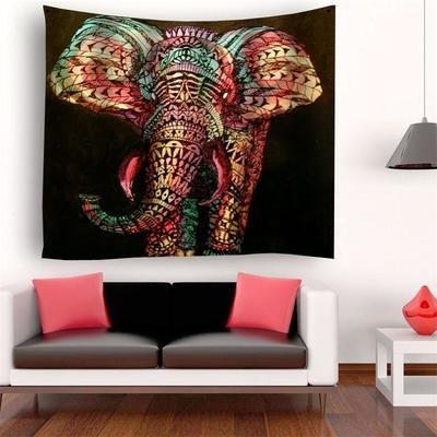 Graffiti Elephant Tapestry